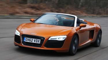 Audi R8 V8 Spyder front tracking