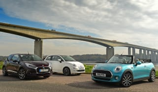 MINI Cooper Convertible vs Fiat 500C vs DS 3 Cabrio - header