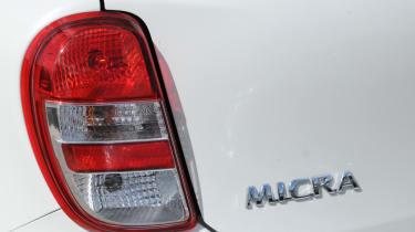 Nissan Micra DiG-S Shiro badge