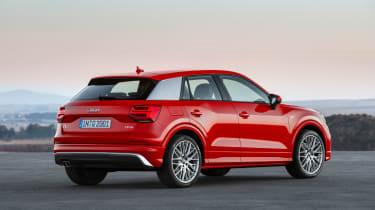 Audi Q2 Red rear side static