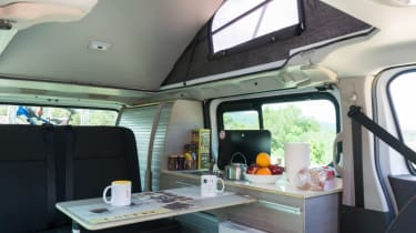 Nissan campervan interior