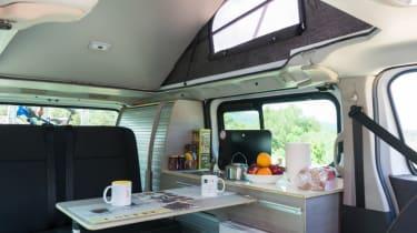 Nissan campervan interior