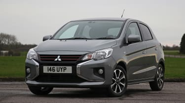 Strong new exterior design and infotainment upgrades mark out the new Mirage from its predecessor, although it keeps the same 1.2-litre, three-cylinder petrol engine.