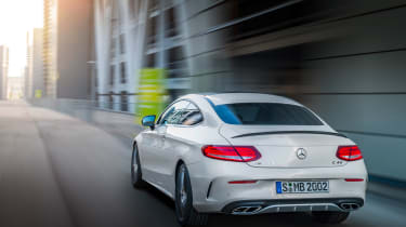Mercedes C 43 AMG Coupe - rear panning