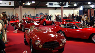 The Earl's Court Motor Show recreates motor shows of old inside its walls, with a focus this year on Ferraris.