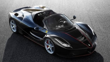LaFerrari open-top model official - overhead front