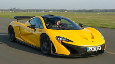 With race mode engaged the P1 sits 50mm lowers and the anti-roll bars and dampers are stiffened.