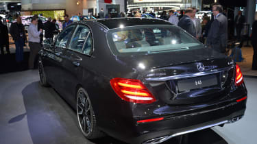 Mercedes E 43 AMG NY - rear three quarter