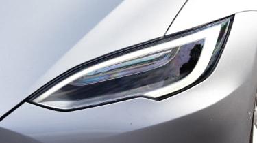 tesla model s exterior details headlights