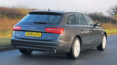 The A6 Avant is larger inside than a BMW 5-Series Touring or a Jaguar XF Sportbrake.