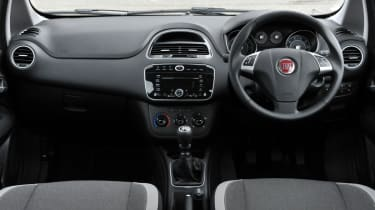 The Punto's interior feels cheap and poorly made.