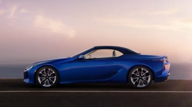 Lexus LC Convertible - side roof up
