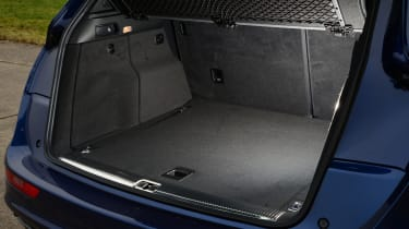 Like the NX, the Q5 gets a powered tailgate on S line Plus models, and the large, clamshell bonnet reveals a 540-litre boot. Levers in the boot make it easy to fold the back seats and there's 1,560 litres of space with them down.