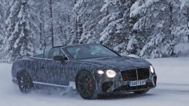 Bentley Continental GTC spies side front