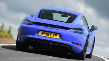 Porsche 718 Cayman - rear driving