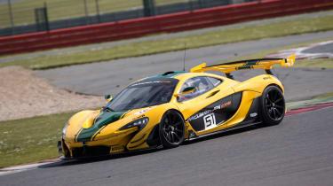 McLaren P1 GTR - on track