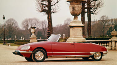 One of the most desirable and sought-after DS models is the gorgeous Chapron cabriolet. The brainchild of famed Parisian coachbuilder Henri Chapron, the hand-crafted four-seat drop-top made its debut in 1958.  While the conversion to