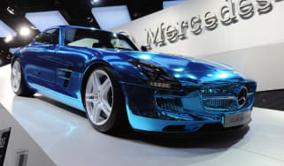 Mercedes SLS AMG Electric Drive at Paria