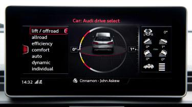 Audi SQ5 - drive select
