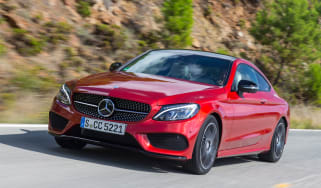 Mercedes C-Class Coupe front tracking
