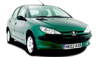 Front view of Peugeot 206