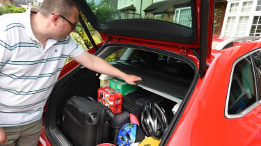 Skoda Superb long-term test - John packing boot