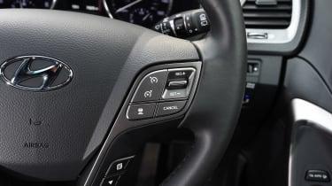 Hyundai Santa Fe - steering wheel detail