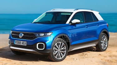 Volkswagen T-Cross SUV - front (watermarked)