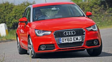 Audi A1 front cornering