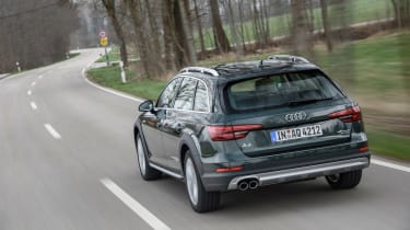 Audi A4 Allroad rear moving
