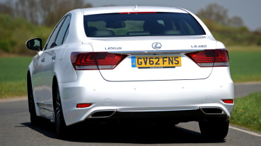 Lexus LS rear cornering