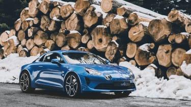 Alpine A110 sports car 2017 - front quarter