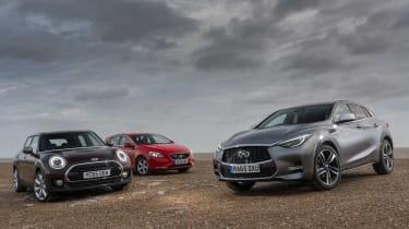 Infiniti Q30 vs MINI Clubman vs Volvo V40 - group test