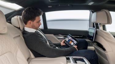 BMW 5 Series Personal CoPilot autonomous prototype rear seats
