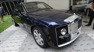 Also seen on Rolls-Royce's stand was the bespoke one-off Sweptail, which was designed for one wealthy customer.