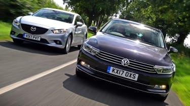 Volkswagen Passat vs Mazda 6 - header