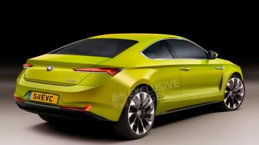 New Skoda EV sports car - rear (watermarked)
