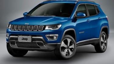 Jeep Compass 2017 - studio blue front quarter