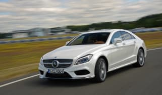 New Mercedes CLS 2014 action