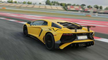 Lamborghini Aventador SV 2015 - rear track
