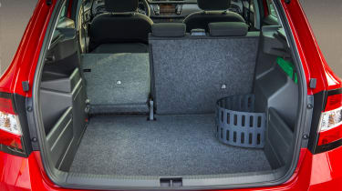 With the seats folded flat, the load space is 1395 litres.