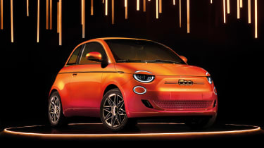 500 haute couture: Italian design houses present their take on the new 500: https://www.autoexpress.co.uk/fiat/500/352203/fiat-500s-armani-bvlgari-and-kartell-one-designer-special-editions-explored