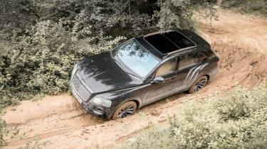 Bentley Bentayga prototype first drive - birdseye