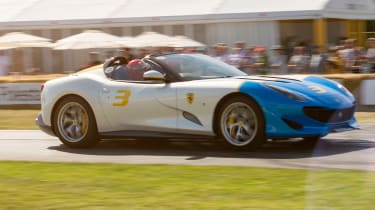 Ferrari SP3JC - side tracking Goodwood 2019