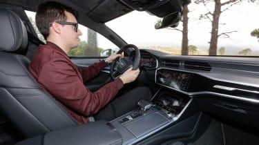 Audi A7 interior driving