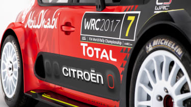 Citroen C3 WRC 2017 white background wheels