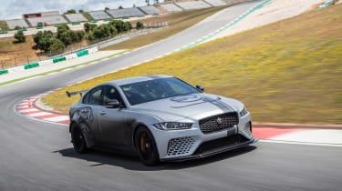 Jaguar XE SV Project 8 - front action track