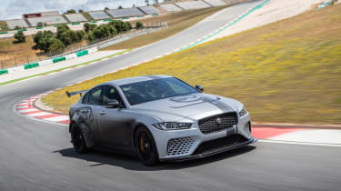 Jaguar XE SV Project 8 - front action track