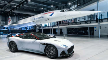 Aston Martin DBS Superleggera Concord - front 3/4 static with Concord