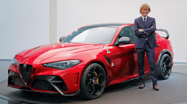 Trip the light fantastic: The inside story on Alfa's revival of the GTA badge: https://www.autoexpress.co.uk/alfa-romeo/giulia/351768/alfa-romeo-giulia-gta-and-gtam-alfas-new-super-saloons-explored
